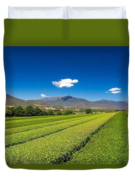Tea In The Valley Duvet Cover
