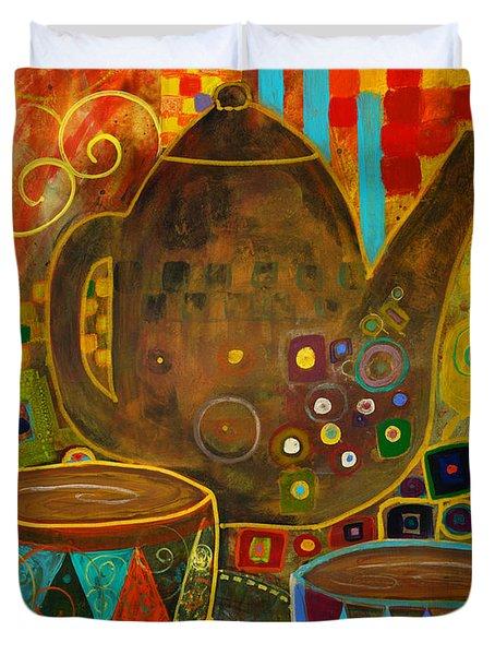 Tea Party With Klimt Duvet Cover