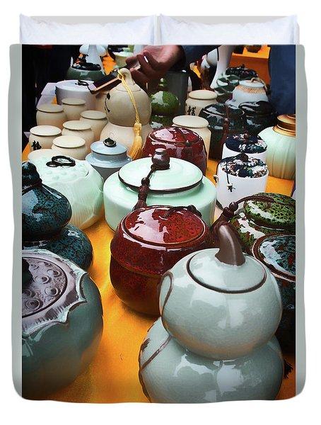 Tea Pots For Sale 3 Duvet Cover