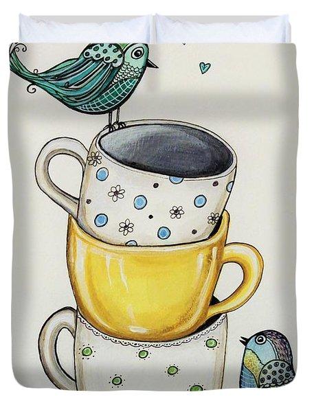 Tea Time Friends Duvet Cover