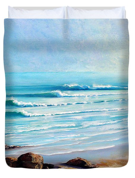 Tea Tree Bay Noosa Heads Australia Duvet Cover by Chris Hobel