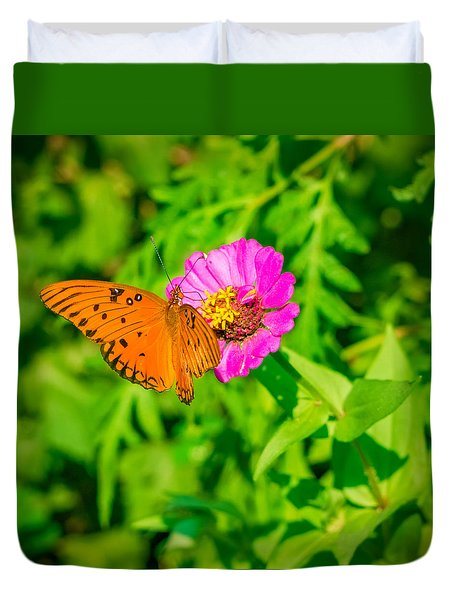 Teacup The Butterfly Duvet Cover by Ken Stanback