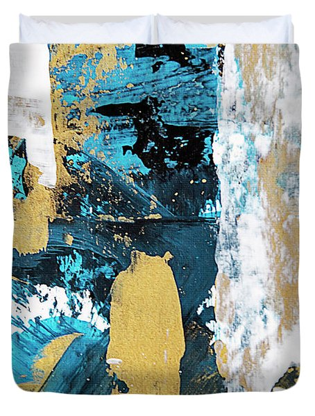 Teal Abstract Duvet Cover