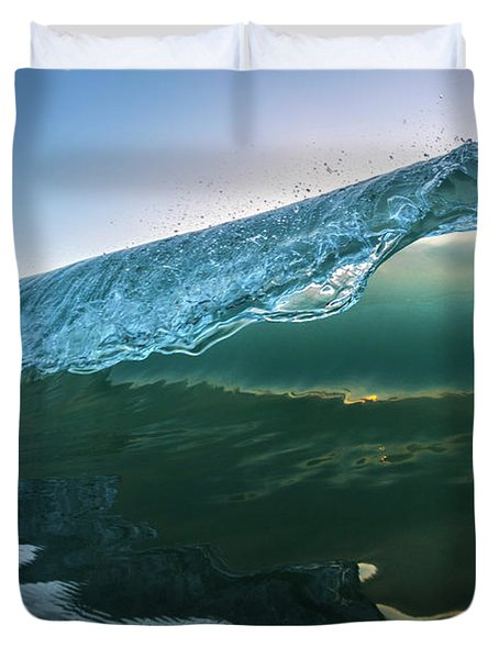 Teal Peel Duvet Cover