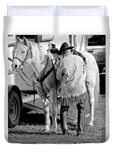 Duvet Cover featuring the photograph Team by Ann E Robson