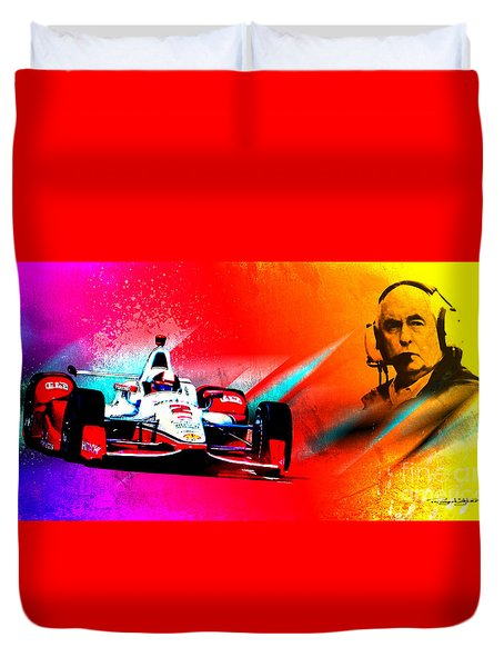 Team Penske Duvet Cover