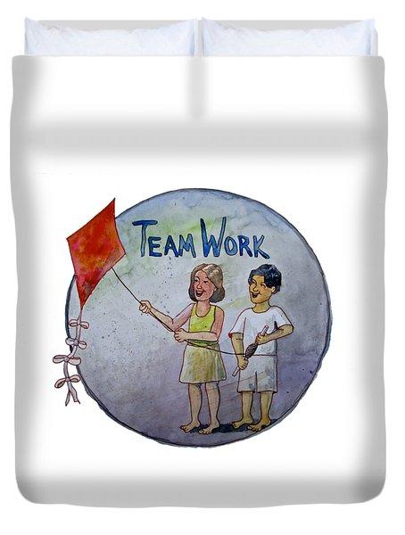 Teamwork Duvet Cover