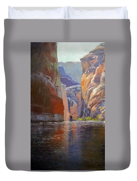 Teapot Point Colorado River Duvet Cover
