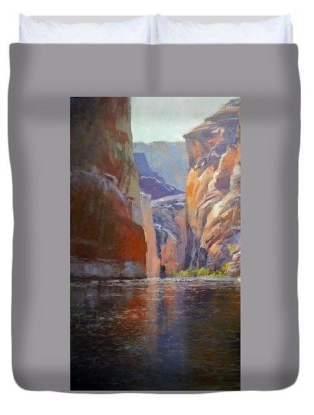 Teapot Point Colorado River Duvet Cover