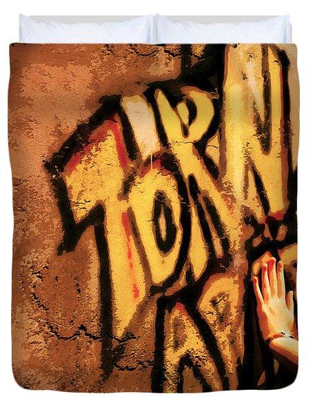 Tear This Wall Down Duvet Cover