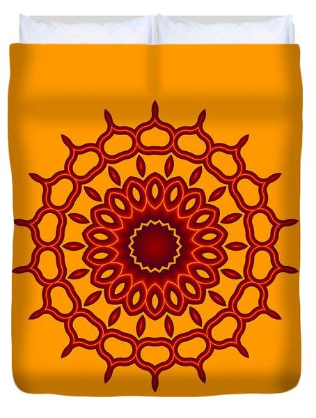 Teardrop Fractal Mandala Duvet Cover