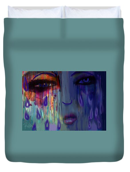 Tearful  Dream Duvet Cover