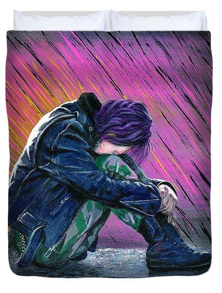 Tears In The Rain Duvet Cover