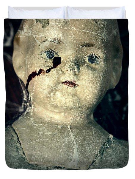 Tears Of Blood Duvet Cover by Joana Kruse