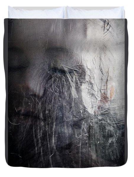 Duvet Cover featuring the digital art Tears Of Ice by Gun Legler