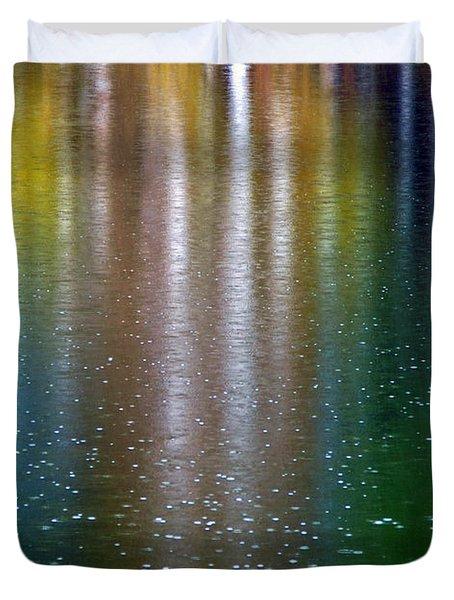 Duvet Cover featuring the photograph Tears On A Rainbow by John Haldane