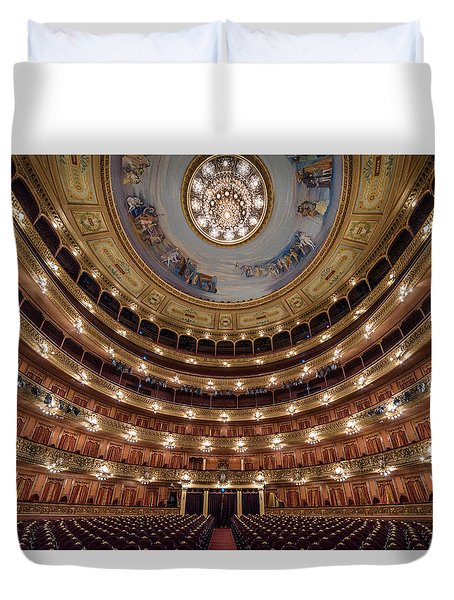 Teatro Colon Performers View Duvet Cover