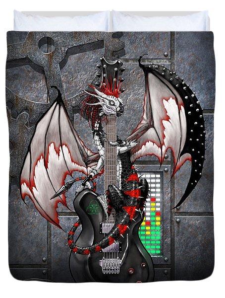 Tech-n-dustrial Music Dragon Duvet Cover