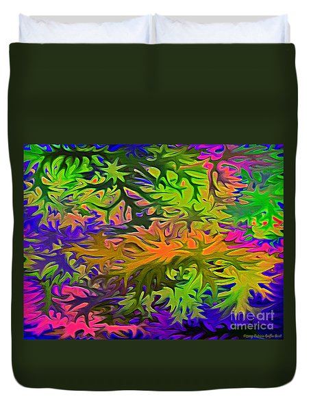 Technicolor Leaves Duvet Cover by Patricia Griffin Brett