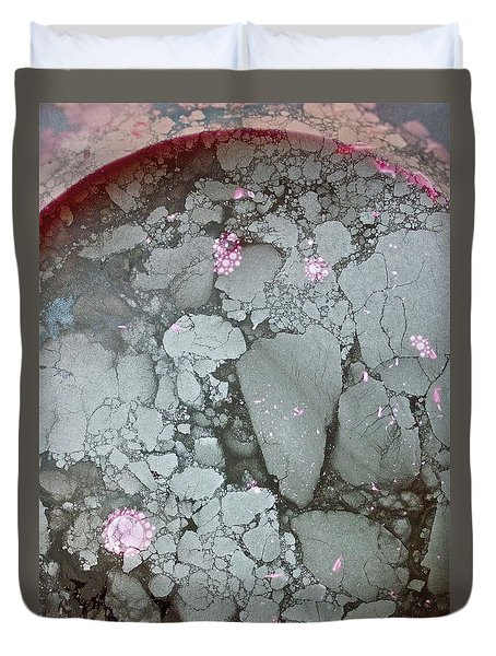 Duvet Cover featuring the photograph Tectonic With Sky Above And Below by Cliff Spohn