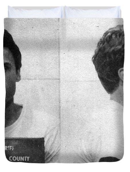 Ted Bundy Mug Shot 1975 Horizontal  Duvet Cover