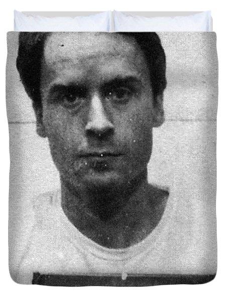 Ted Bundy Mug Shot 1975 Vertical  Duvet Cover