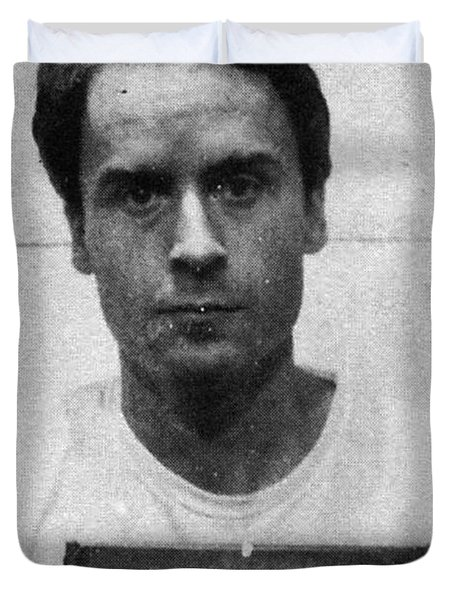 Ted Bundy Mug Shot 1975 Vertical  Duvet Cover