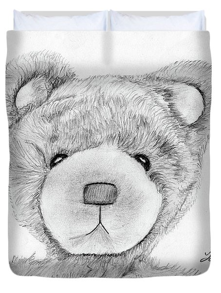 Teddybear Portrait Duvet Cover