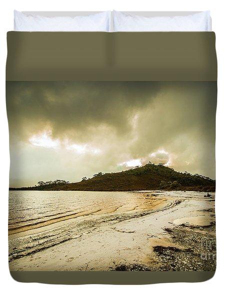 Teds Beach At Dusk Duvet Cover
