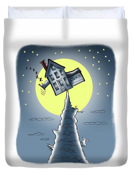 Teeter House Duvet Cover