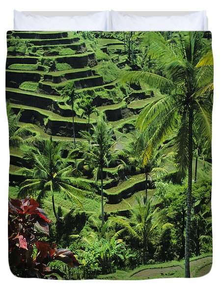 Tegalalang, Bali Duvet Cover by William Waterfall - Printscapes