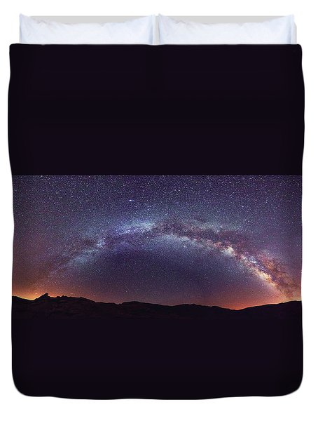 Duvet Cover featuring the photograph Teide Milky Way by James Billings
