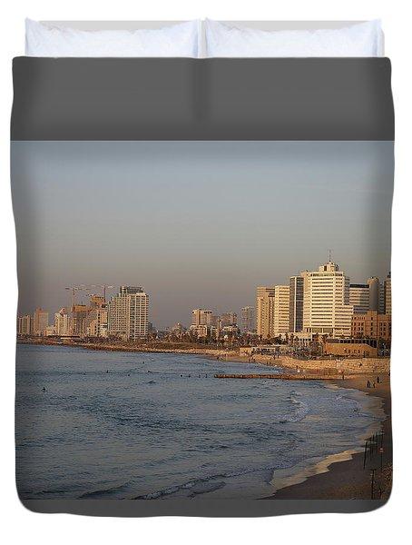 Tel Aviv Coast. Duvet Cover by Shlomo Zangilevitch