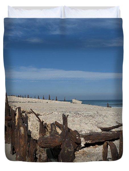 Duvet Cover featuring the photograph Tel Aviv Old Port 2 by Dubi Roman