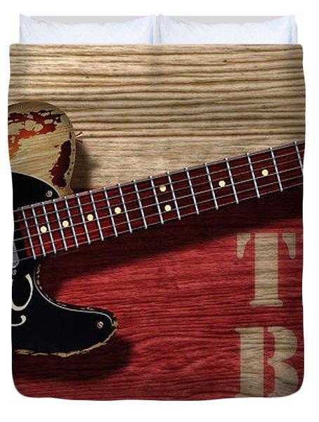 Tele Texas Blues Duvet Cover