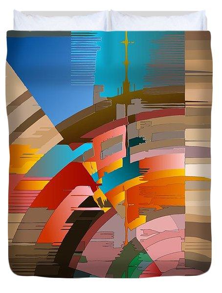 Telecast Duvet Cover by Leo Symon