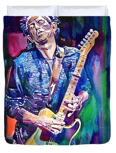 Telecaster- Keith Richards Duvet Cover