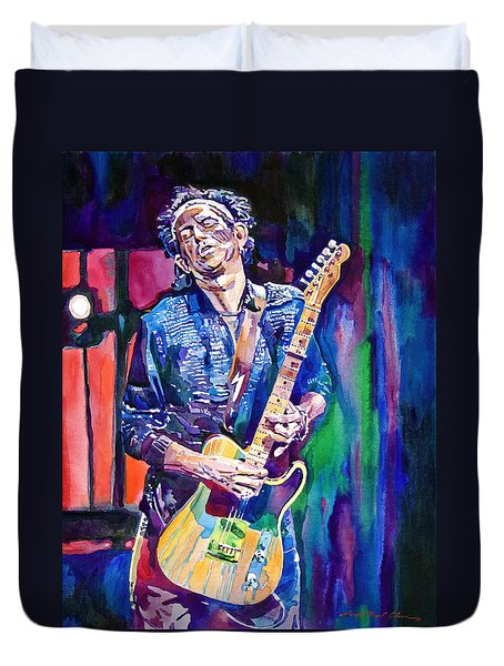 Telecaster- Keith Richards Duvet Cover