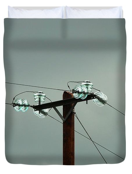 Telegraph Lines Duvet Cover by Charlie and Norma Brock