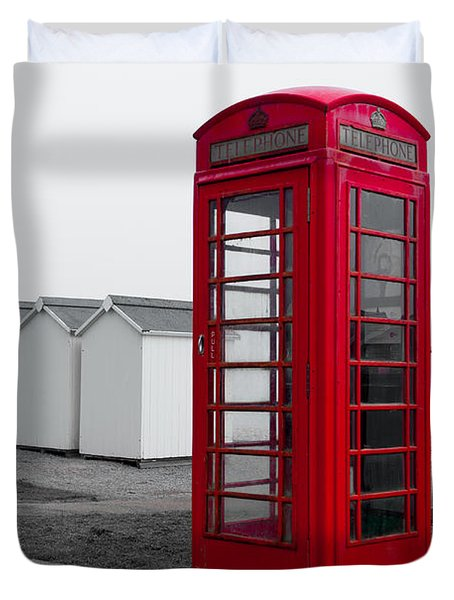 Telephone Box By The Sea I Duvet Cover