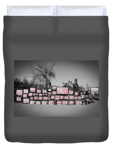 Television Duvet Cover by Ralph Vazquez