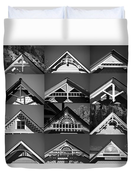 Duvet Cover featuring the photograph Telluride Classics by David Lee Thompson