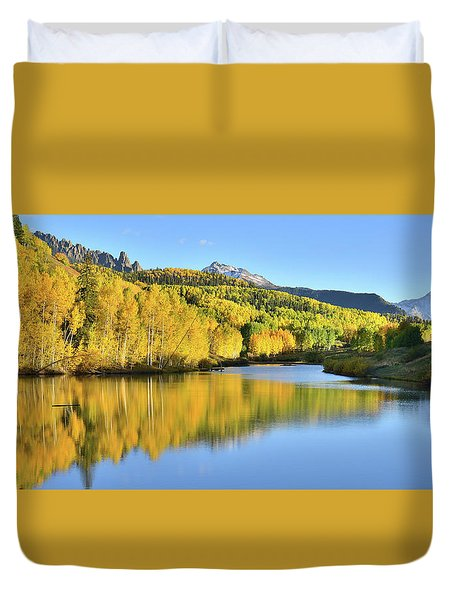 Duvet Cover featuring the photograph Telluride Mountain Lake by Ray Mathis