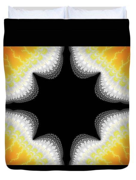 Fractal 7 Center 2x3 Duvet Cover