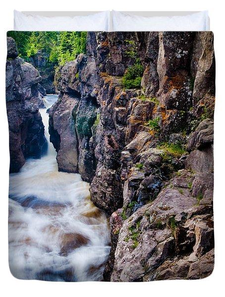 Temperance River Gorge Duvet Cover