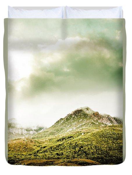 Temperate Alpine Terrain Duvet Cover