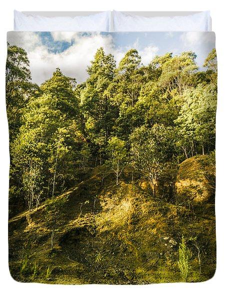 Temperate Rainforest Scene Duvet Cover
