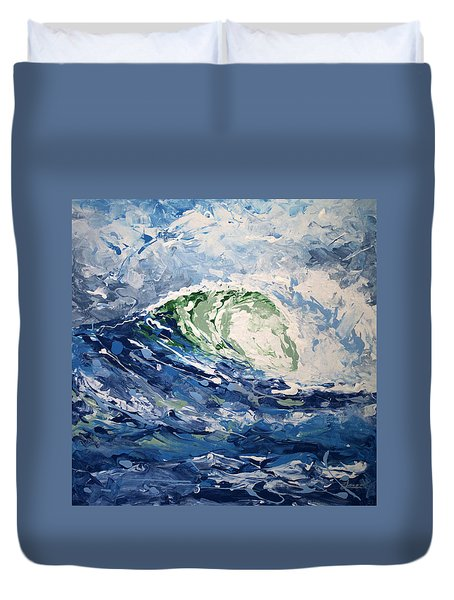Duvet Cover featuring the painting Tempest Abstract by William Love