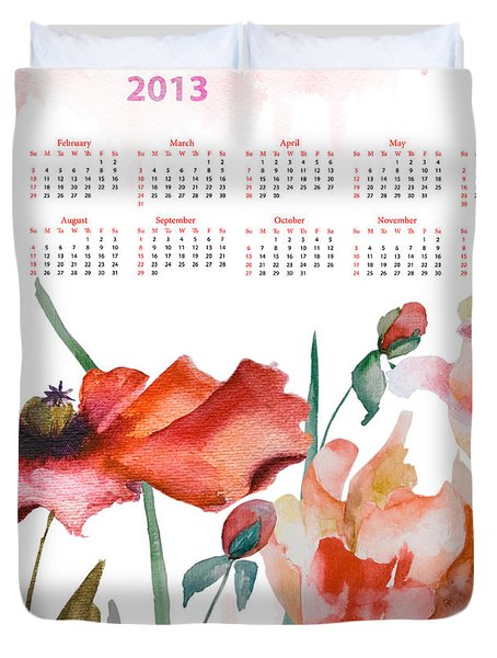 Template For Calendar 2013 Duvet Cover