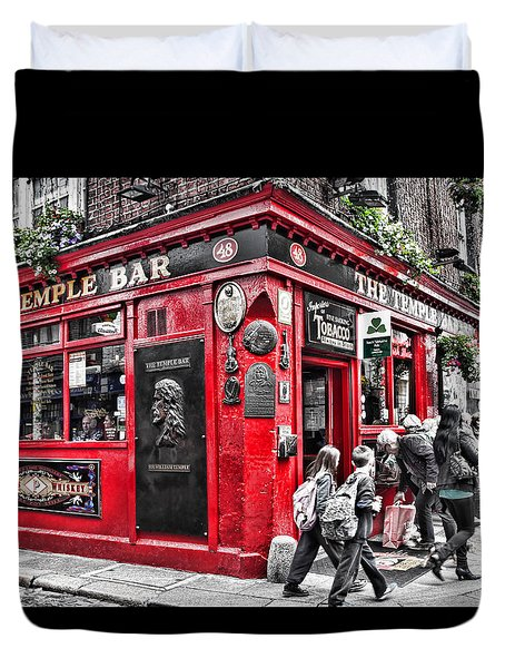 Temple Bar Pub Duvet Cover